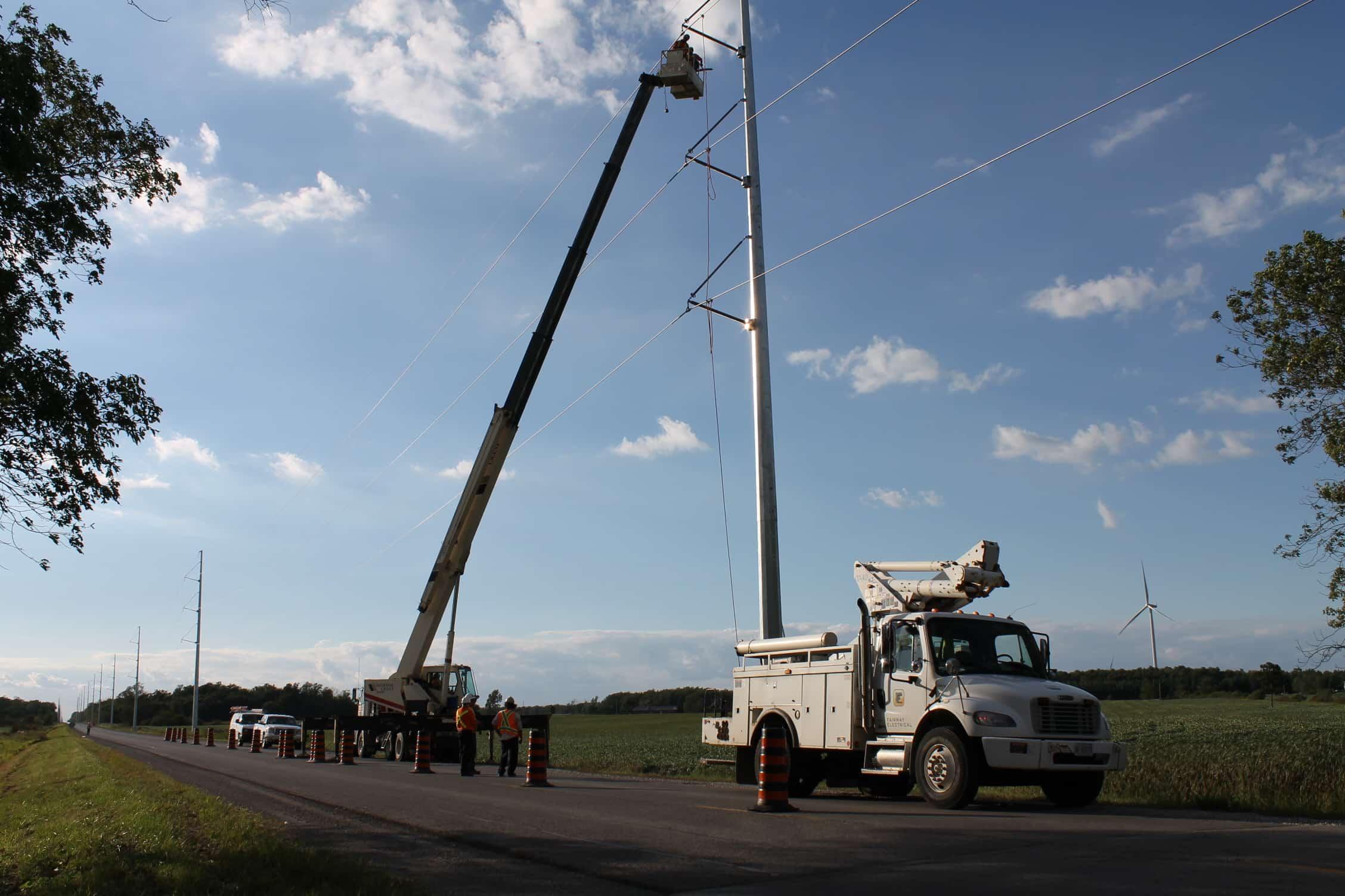 Utility Installation At Wind Farm Ontario1