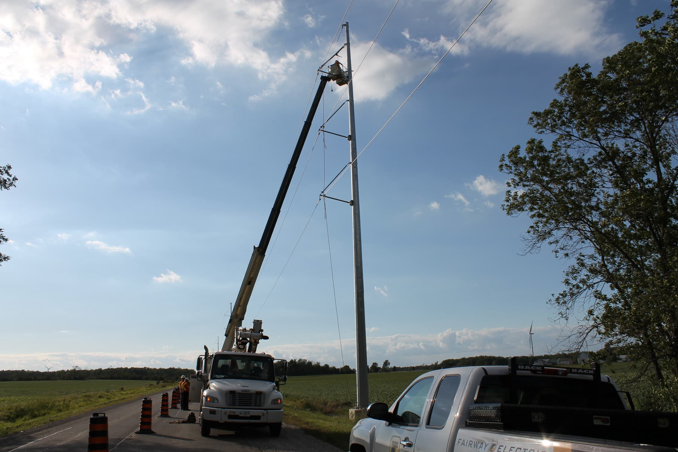 Utility Installation At Wind Farm Ontario2
